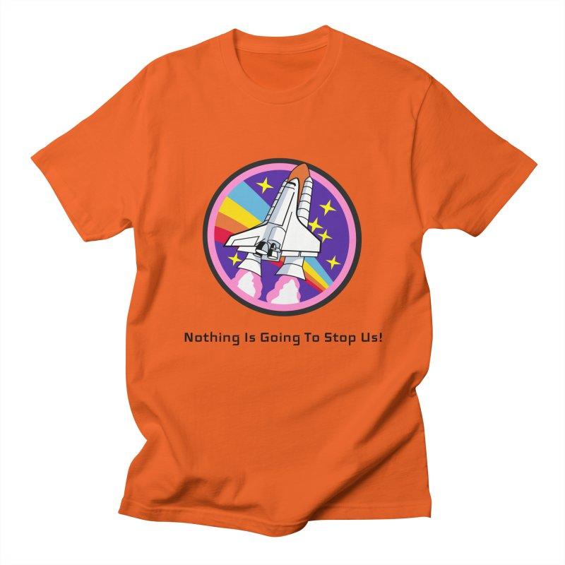 Optimistic Rocket Men's Regular T-Shirt by Dark Helix's Artist Shop