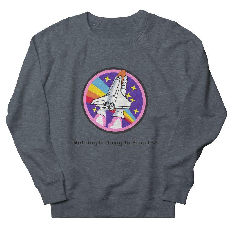 Optimistic Rocket Women's French Terry Sweatshirt by Dark Helix's Artist Shop