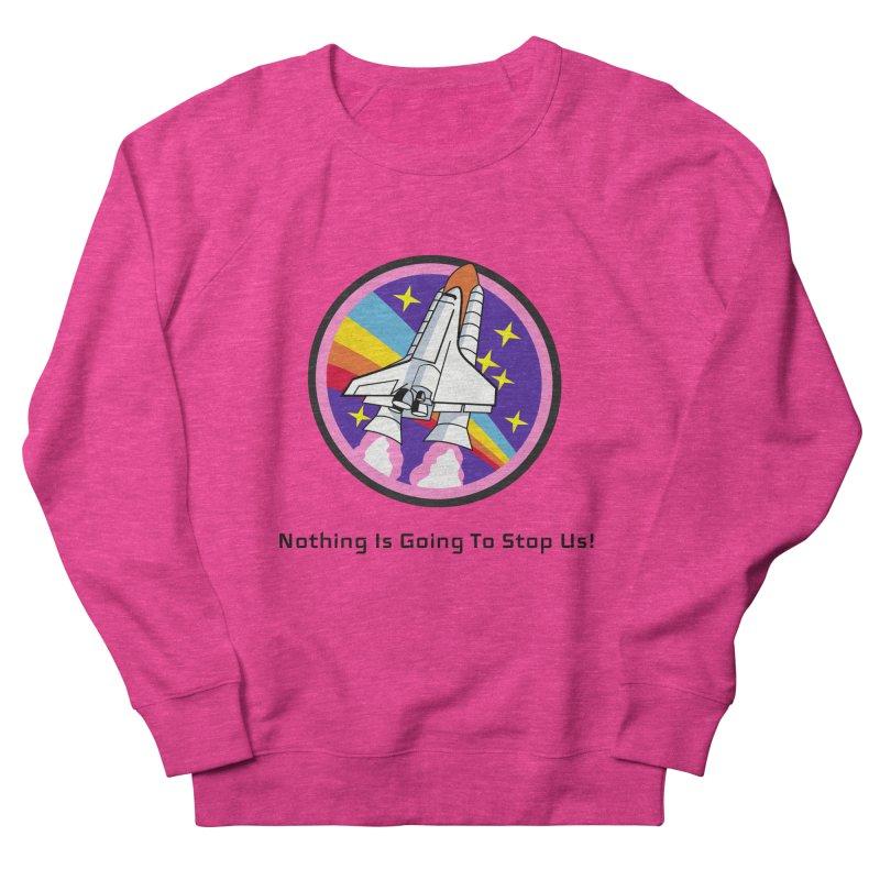 Optimistic Rocket Men's French Terry Sweatshirt by Dark Helix's Artist Shop