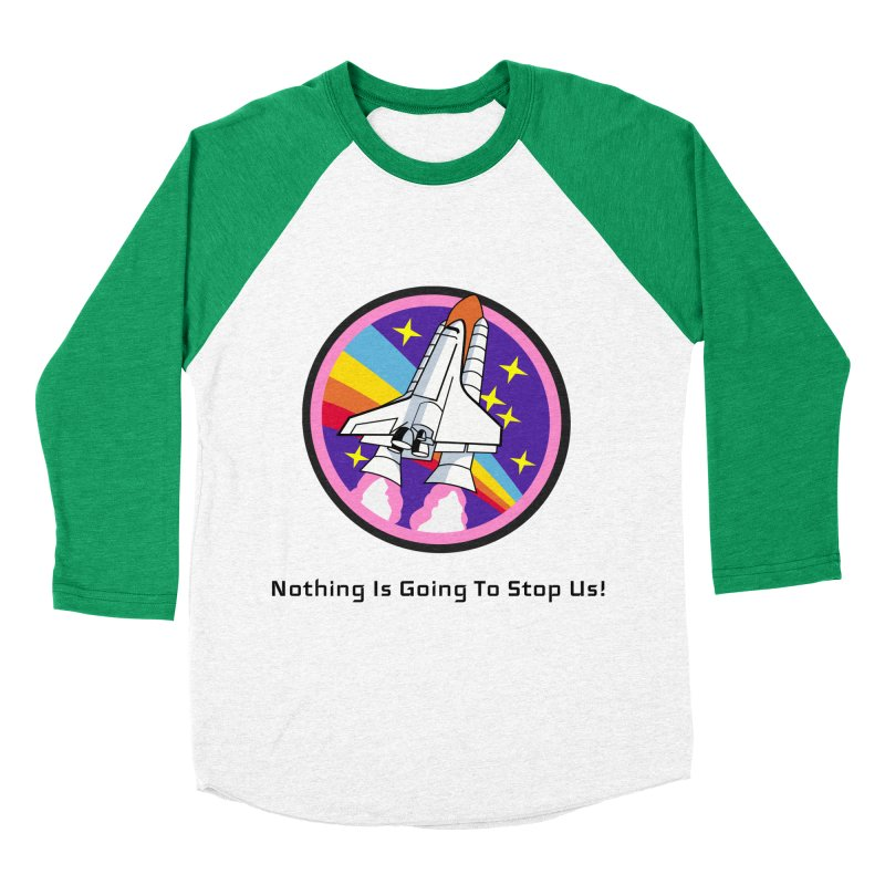 Optimistic Rocket Men's Baseball Triblend Longsleeve T-Shirt by Dark Helix's Artist Shop