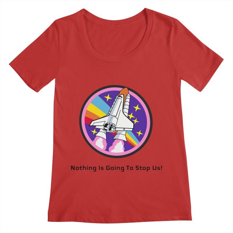 Optimistic Rocket Women's Regular Scoop Neck by Dark Helix's Artist Shop