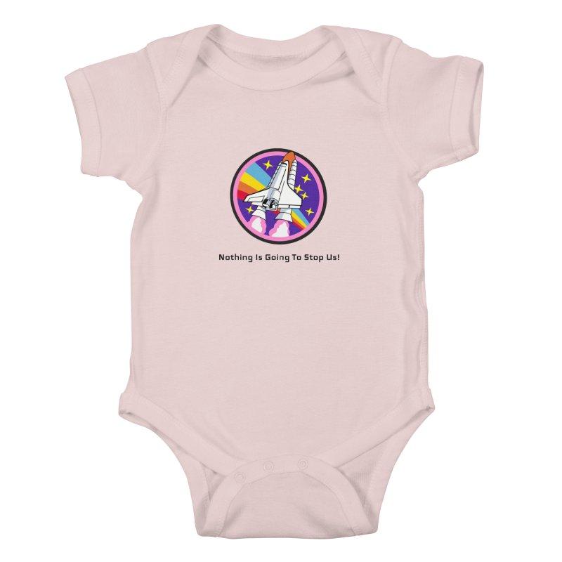 Optimistic Rocket Kids Baby Bodysuit by Dark Helix's Artist Shop