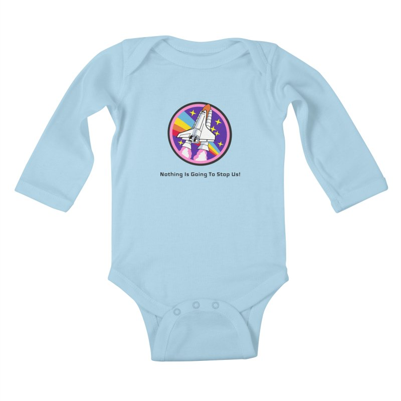 Optimistic Rocket Kids Baby Longsleeve Bodysuit by Dark Helix's Artist Shop