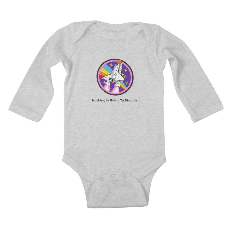 Optimistic Rocket Kids Baby Longsleeve Bodysuit by Dark Helix's Artist Shop