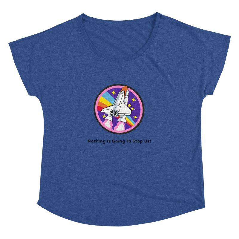 Optimistic Rocket Women's Dolman Scoop Neck by Dark Helix's Artist Shop