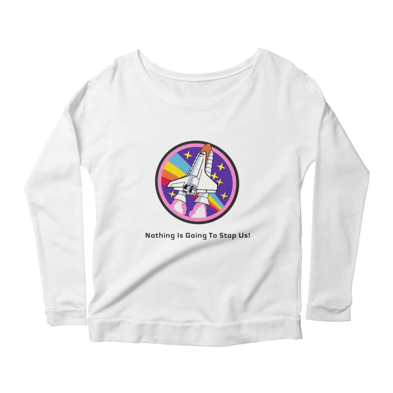 Optimistic Rocket Women's Scoop Neck Longsleeve T-Shirt by Dark Helix's Artist Shop