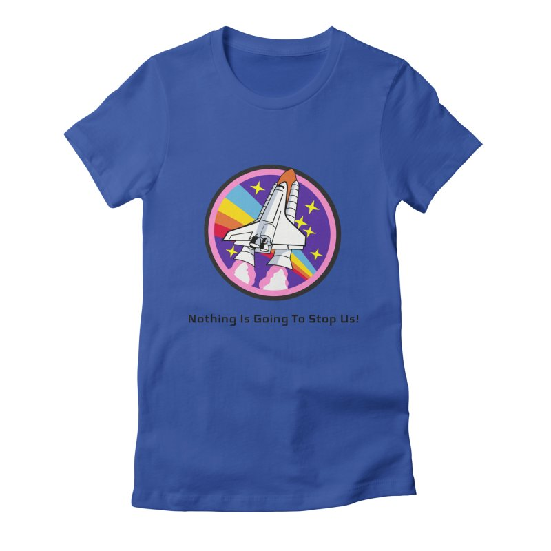 Optimistic Rocket Women's Fitted T-Shirt by Dark Helix's Artist Shop