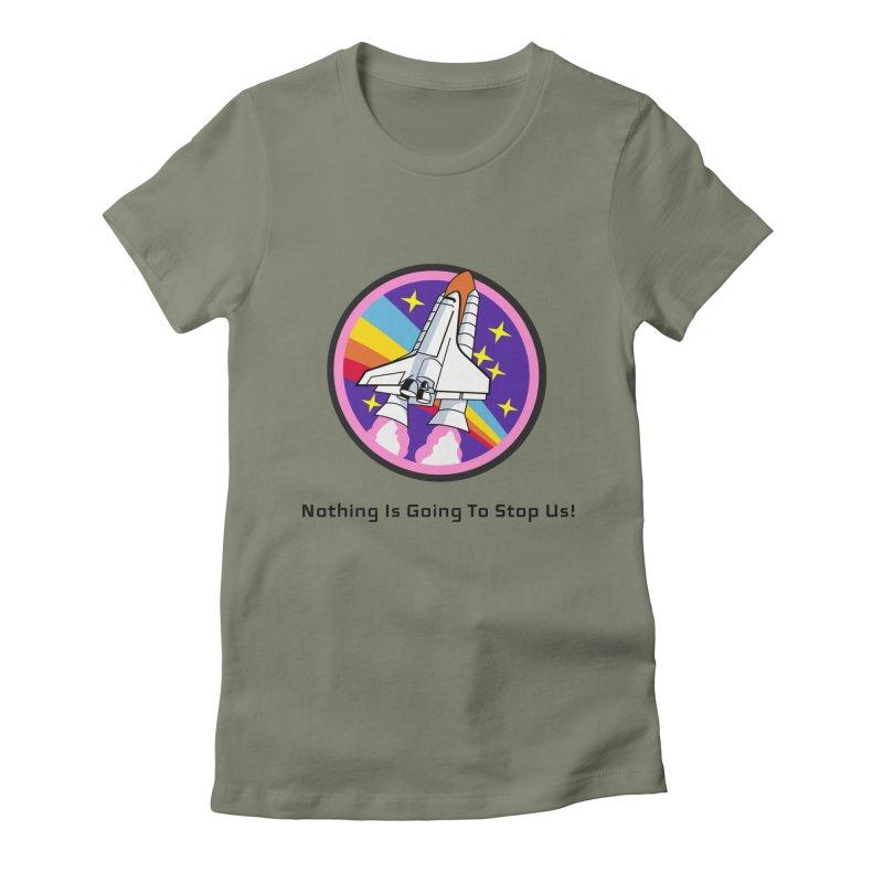 Optimistic Rocket Women's Fitted T-Shirt by Dark Helix's Artist Shop