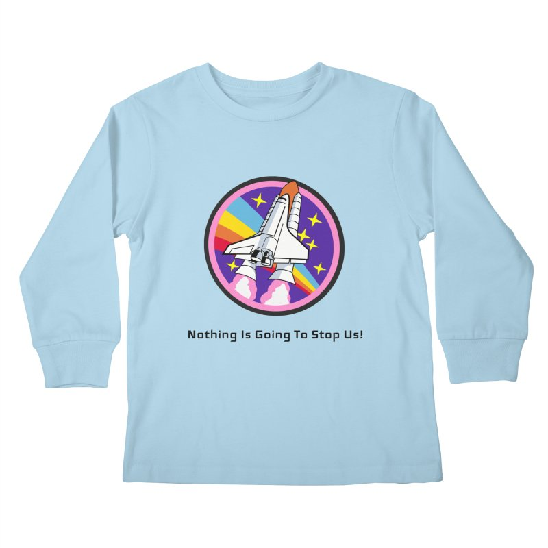 Optimistic Rocket Kids Longsleeve T-Shirt by Dark Helix's Artist Shop