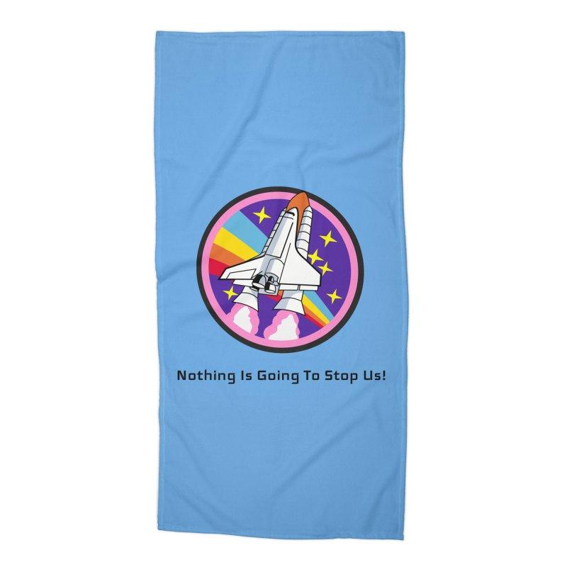 Optimistic Rocket Accessories Beach Towel by Dark Helix's Artist Shop