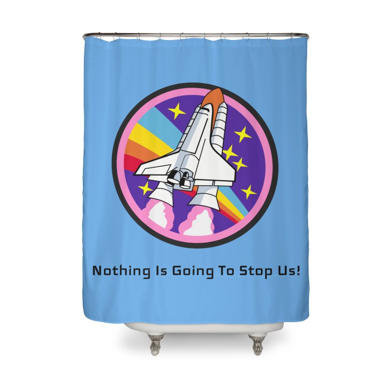 Optimistic Rocket Home Shower Curtain by Dark Helix's Artist Shop