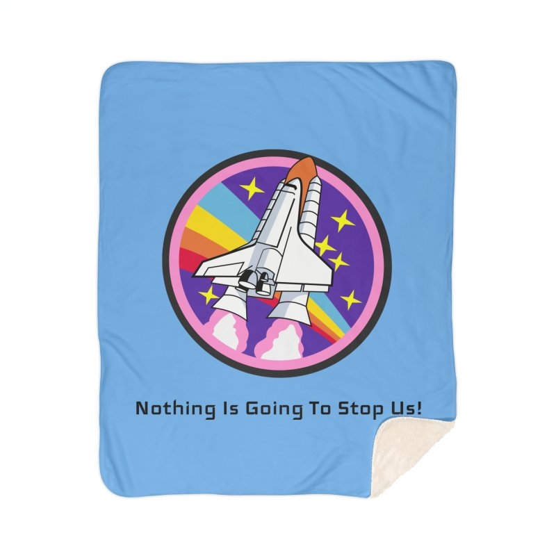 Optimistic Rocket Home Sherpa Blanket Blanket by Dark Helix's Artist Shop