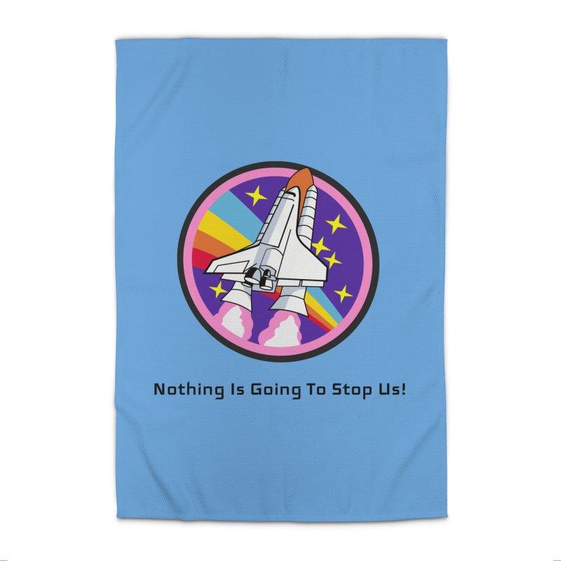 Optimistic Rocket Home Rug by Dark Helix's Artist Shop