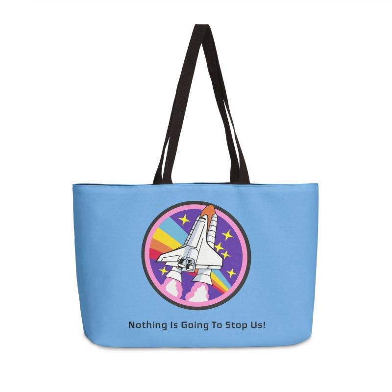 Optimistic Rocket Accessories Weekender Bag Bag by Dark Helix's Artist Shop