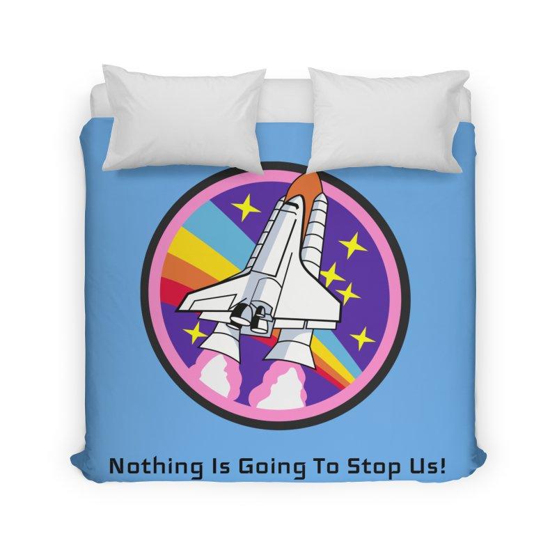 Optimistic Rocket Home Duvet by Dark Helix's Artist Shop