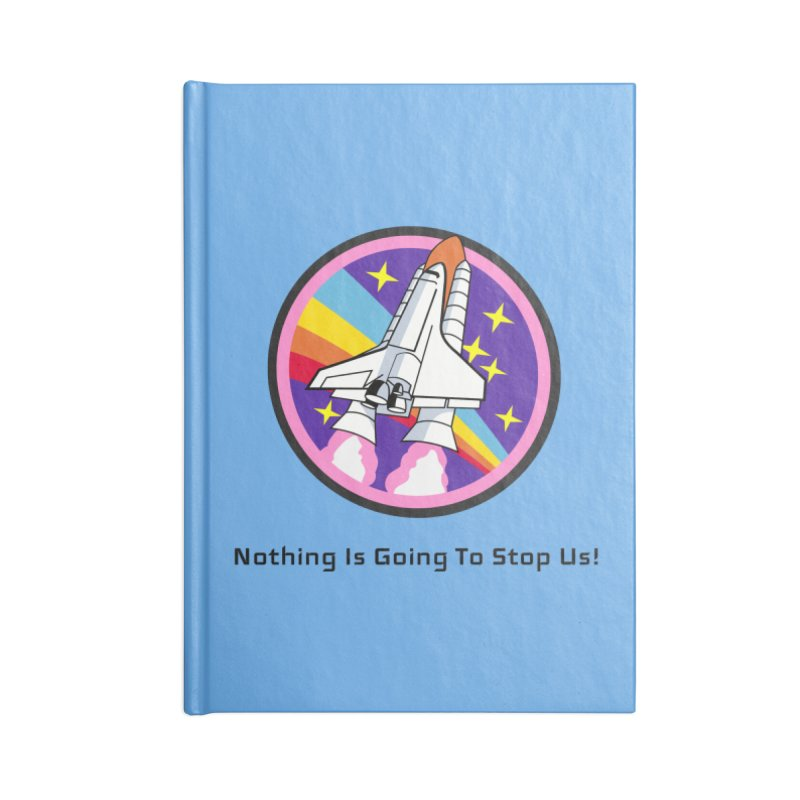 Optimistic Rocket Accessories Lined Journal Notebook by Dark Helix's Artist Shop