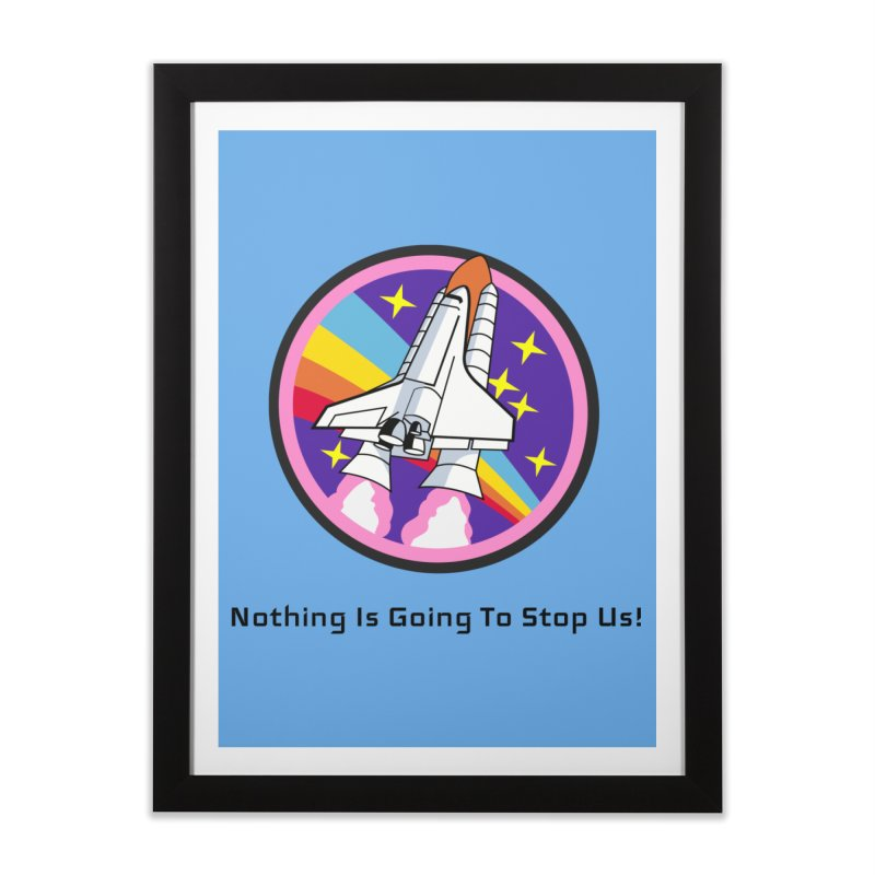 Optimistic Rocket Home Framed Fine Art Print by Dark Helix's Artist Shop