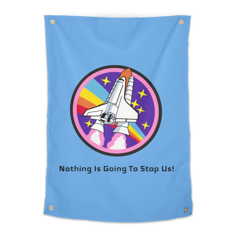 Optimistic Rocket Home Tapestry by Dark Helix's Artist Shop