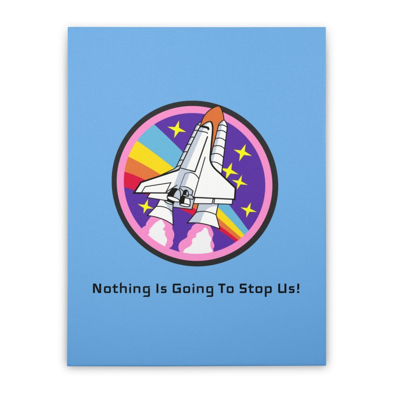 Optimistic Rocket Home Stretched Canvas by Dark Helix's Artist Shop