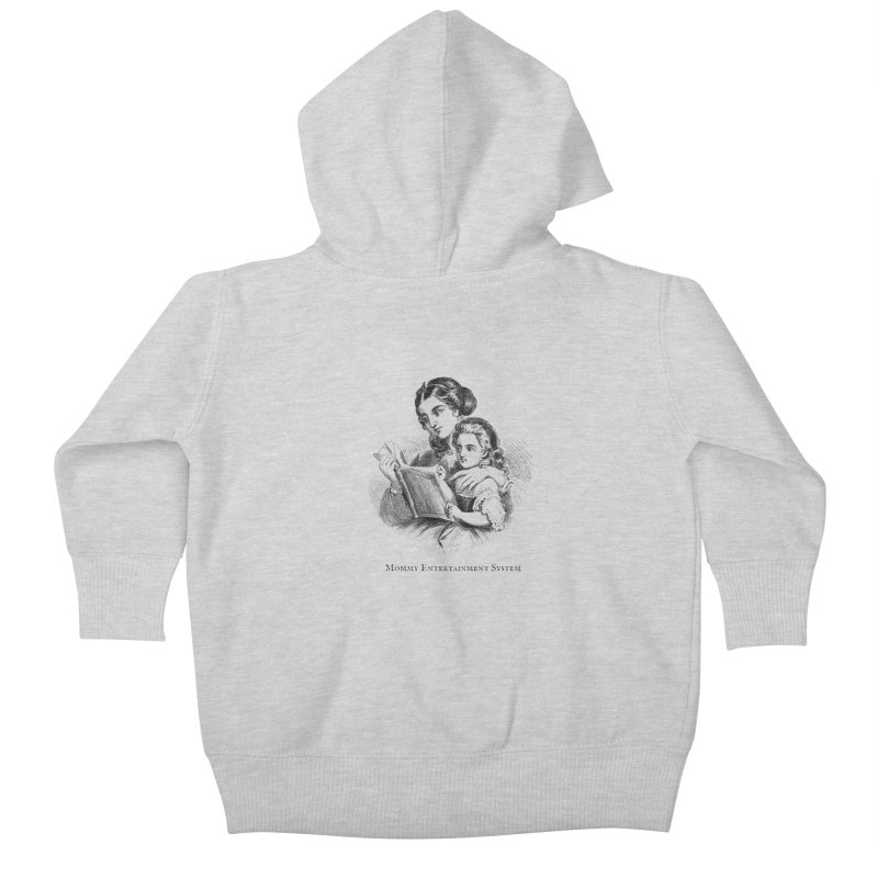 Mommy Entertainment System Kids Baby Zip-Up Hoody by Dark Helix's Artist Shop