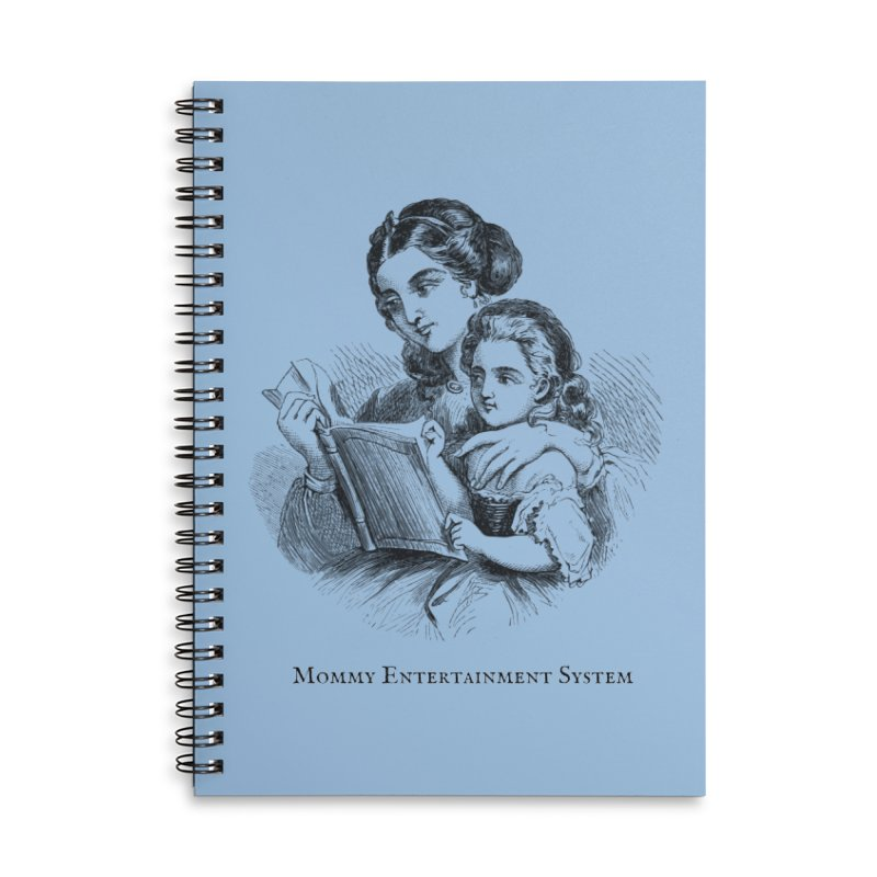 Mommy Entertainment System Accessories Lined Spiral Notebook by Dark Helix's Artist Shop
