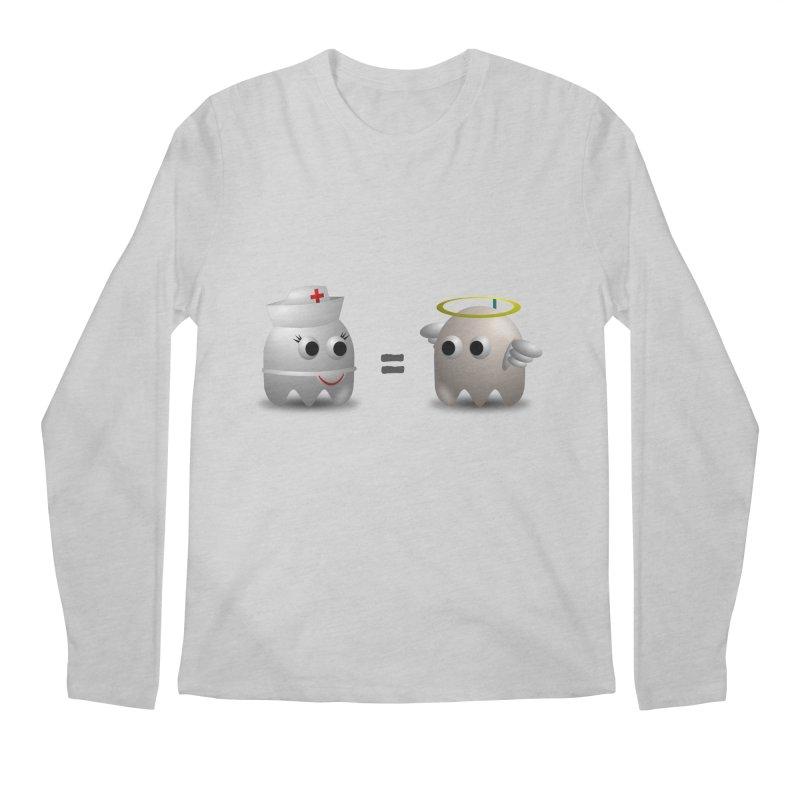 Nurse = Angel Men's Regular Longsleeve T-Shirt by Dark Helix's Artist Shop
