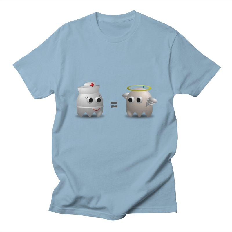 Nurse = Angel Men's Regular T-Shirt by Dark Helix's Artist Shop