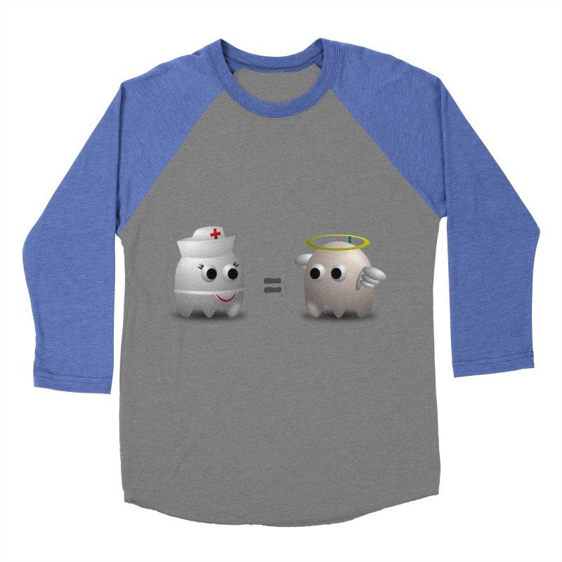 Nurse = Angel Women's Baseball Triblend Longsleeve T-Shirt by Dark Helix's Artist Shop