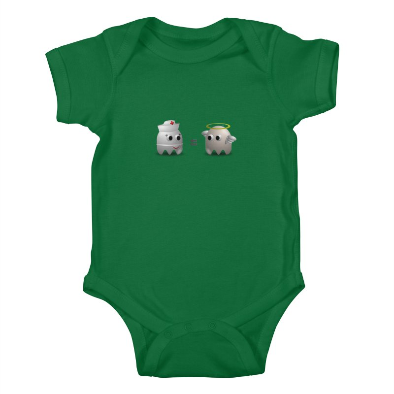 Nurse = Angel Kids Baby Bodysuit by Dark Helix's Artist Shop