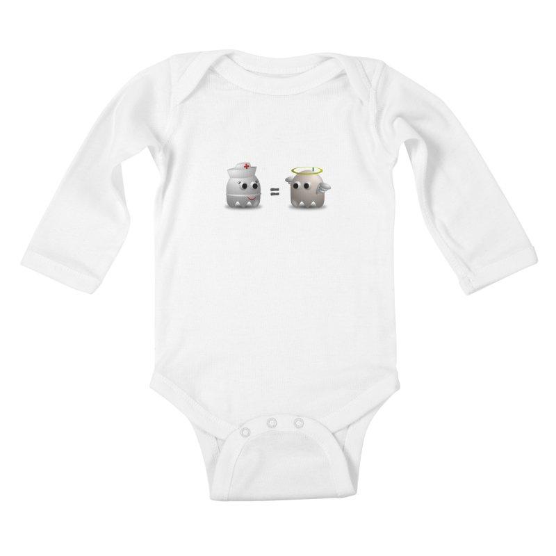 Nurse = Angel Kids Baby Longsleeve Bodysuit by Dark Helix's Artist Shop