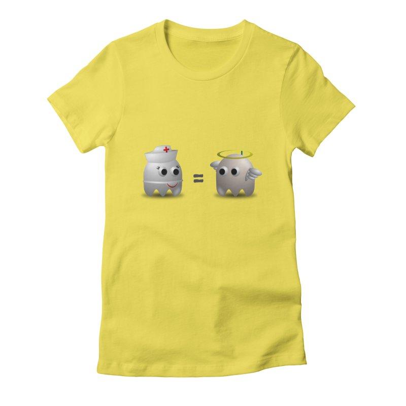 Nurse = Angel Women's T-Shirt by Dark Helix's Artist Shop