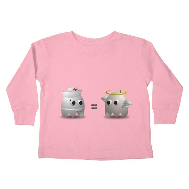Nurse = Angel Kids Toddler Longsleeve T-Shirt by Dark Helix's Artist Shop