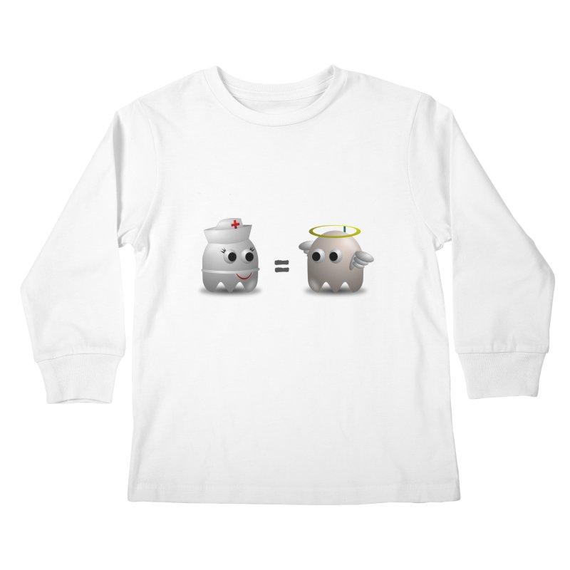 Nurse = Angel Kids Longsleeve T-Shirt by Dark Helix's Artist Shop