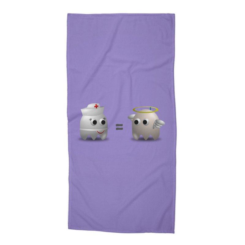 Nurse = Angel Accessories Beach Towel by Dark Helix's Artist Shop