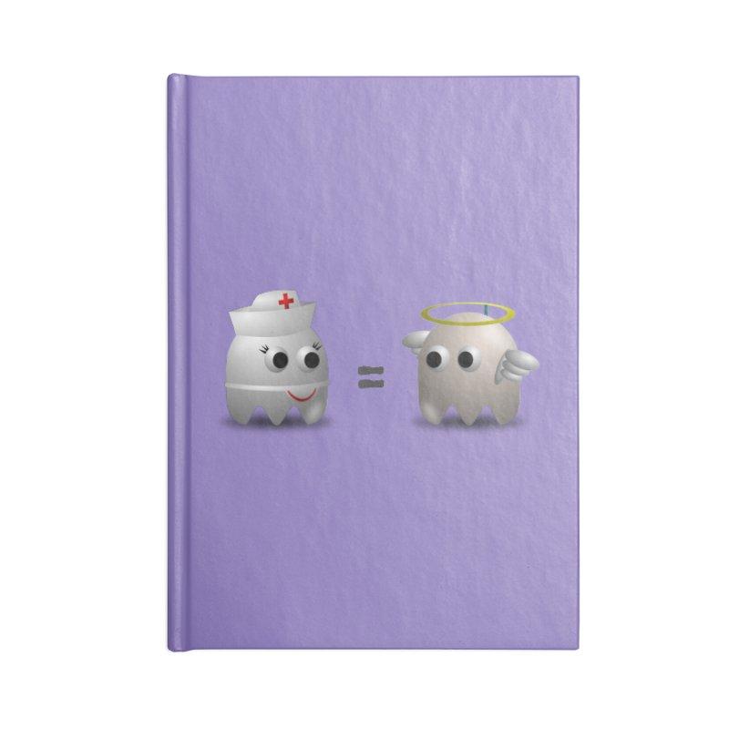 Nurse = Angel Accessories Lined Journal Notebook by Dark Helix's Artist Shop