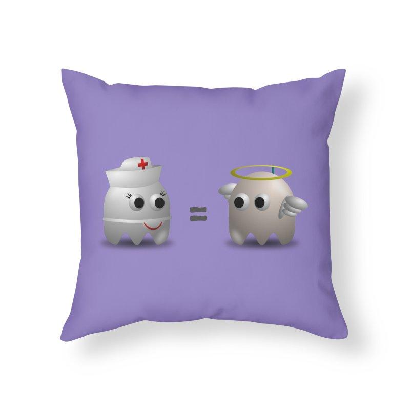 Nurse = Angel Home Throw Pillow by Dark Helix's Artist Shop