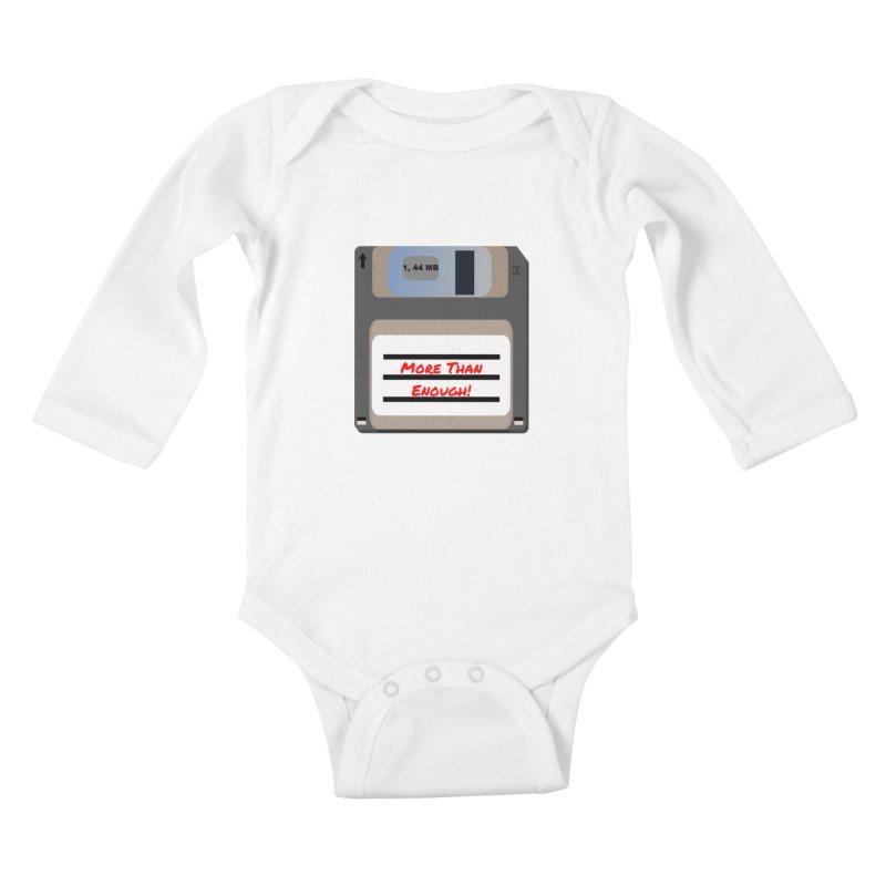 More Than Enough! Kids Baby Longsleeve Bodysuit by Dark Helix's Artist Shop