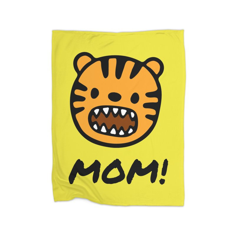 Tiger Mom Home Fleece Blanket Blanket by Dark Helix's Artist Shop