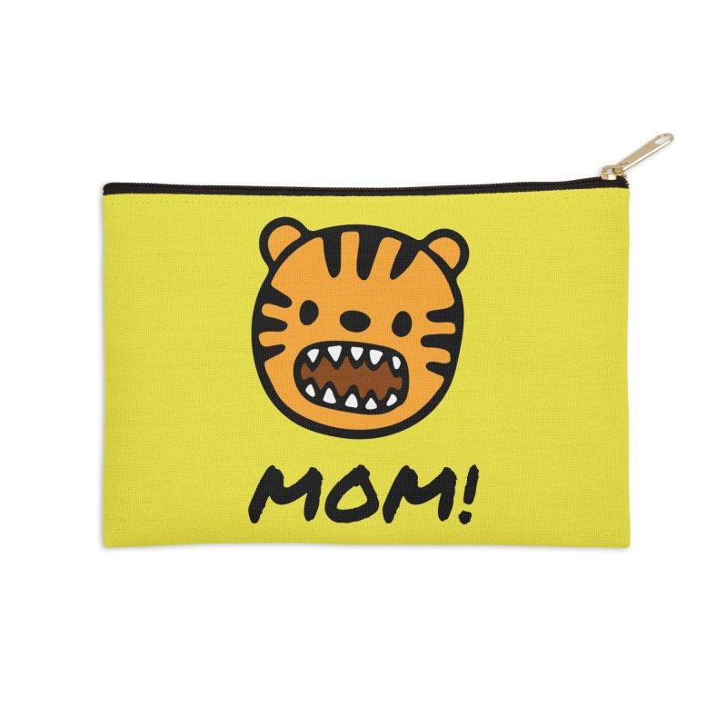 Tiger Mom Accessories Zip Pouch by Dark Helix's Artist Shop
