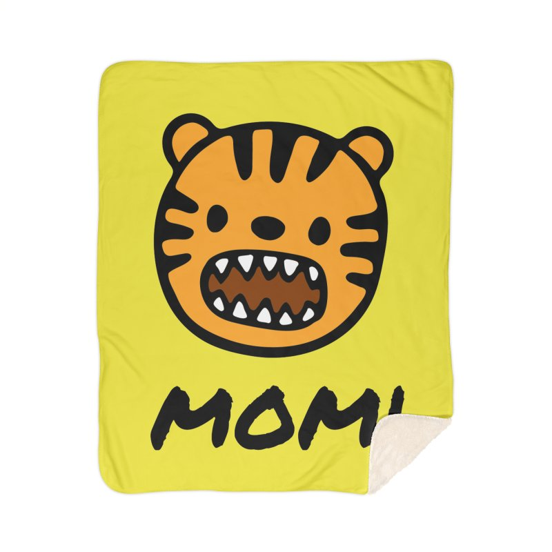 Tiger Mom Home Sherpa Blanket Blanket by Dark Helix's Artist Shop