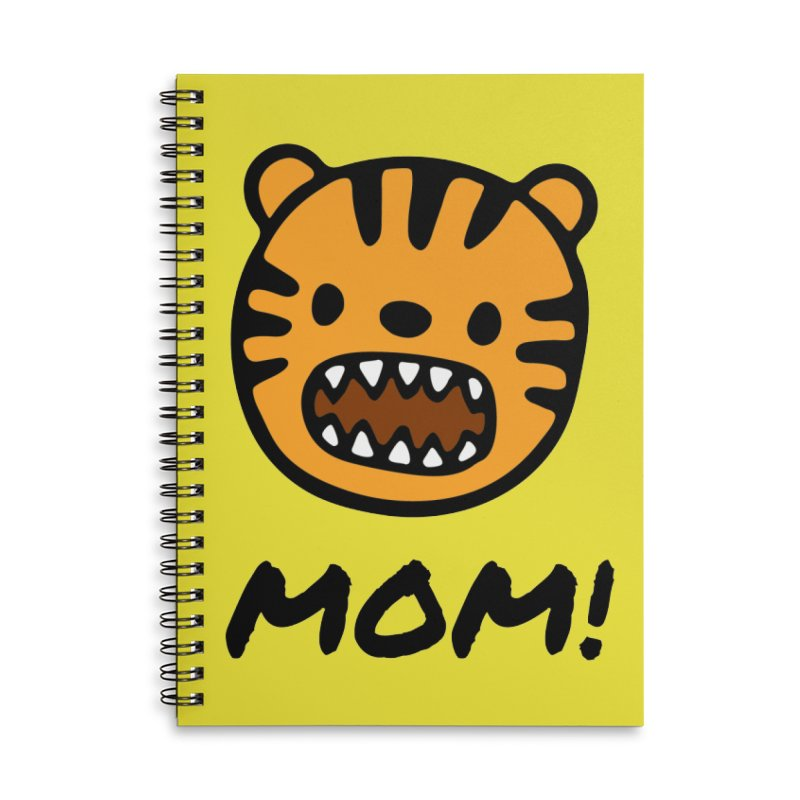 Tiger Mom Accessories Lined Spiral Notebook by Dark Helix's Artist Shop