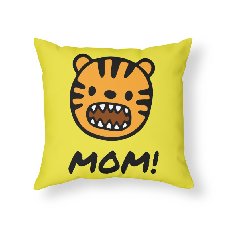 Tiger Mom Home Throw Pillow by Dark Helix's Artist Shop