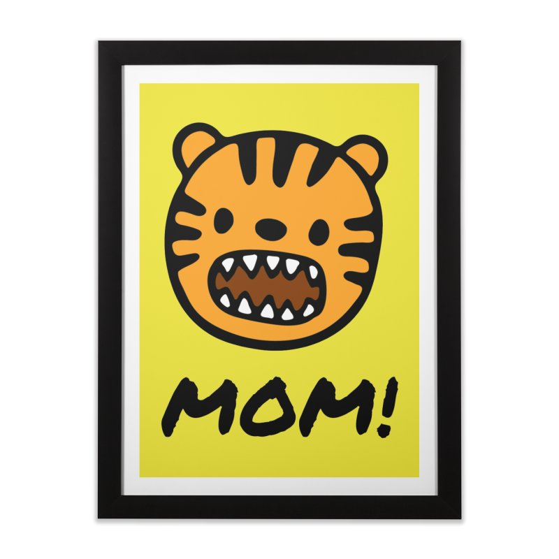 Tiger Mom Home Framed Fine Art Print by Dark Helix's Artist Shop