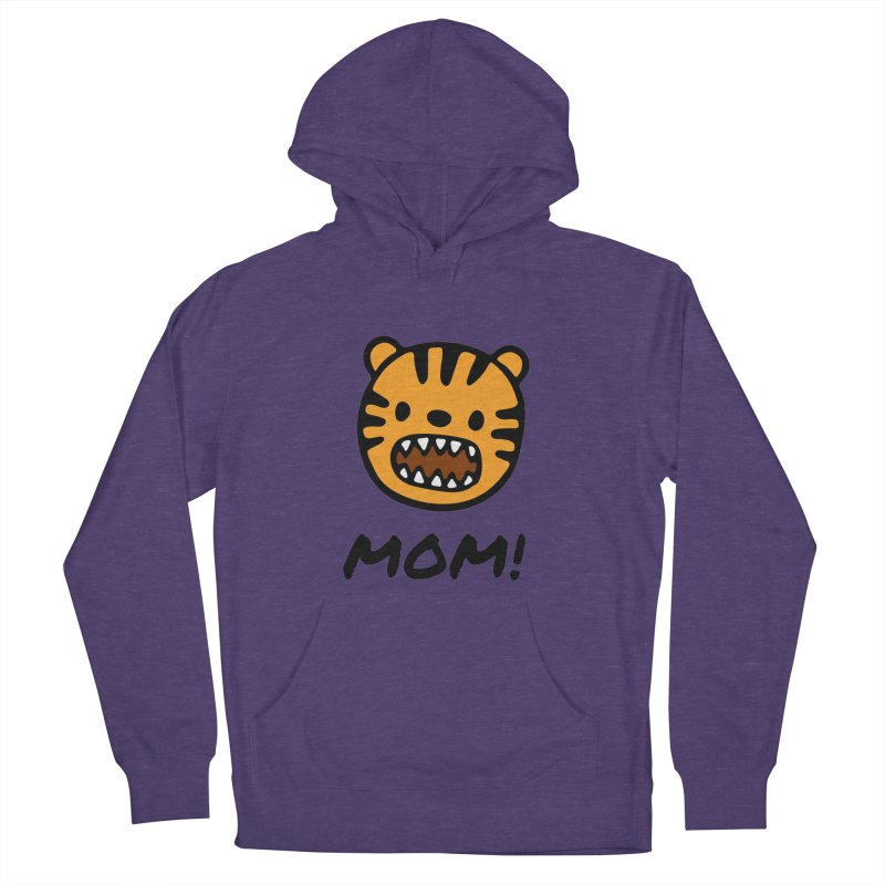 Tiger Mom Women's French Terry Pullover Hoody by Dark Helix's Artist Shop