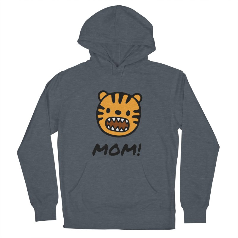 Tiger Mom Men's French Terry Pullover Hoody by Dark Helix's Artist Shop