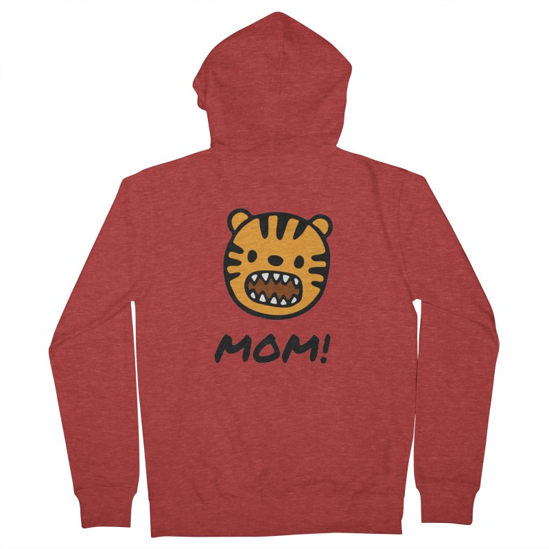 Tiger Mom Women's French Terry Zip-Up Hoody by Dark Helix's Artist Shop