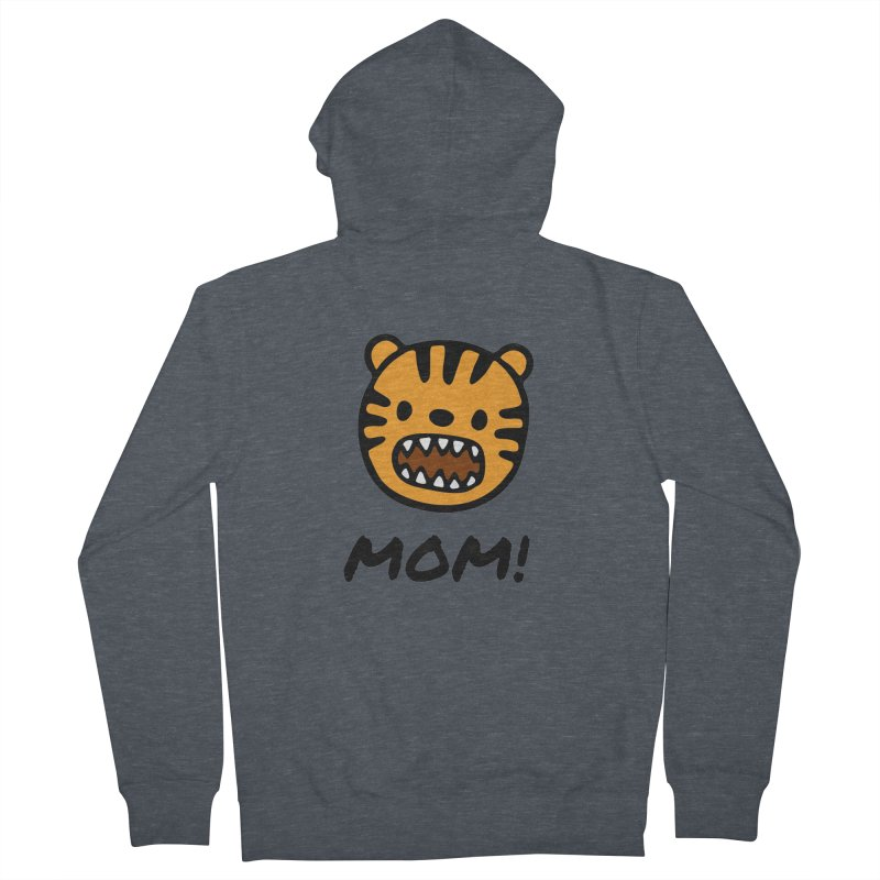 Tiger Mom Men's French Terry Zip-Up Hoody by Dark Helix's Artist Shop