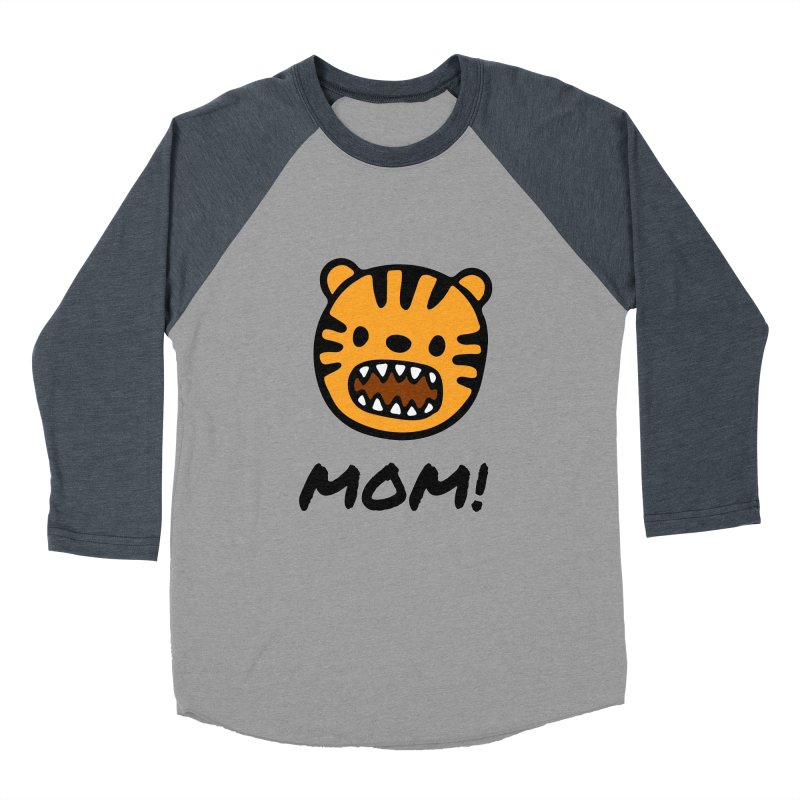 Tiger Mom Men's Baseball Triblend Longsleeve T-Shirt by Dark Helix's Artist Shop