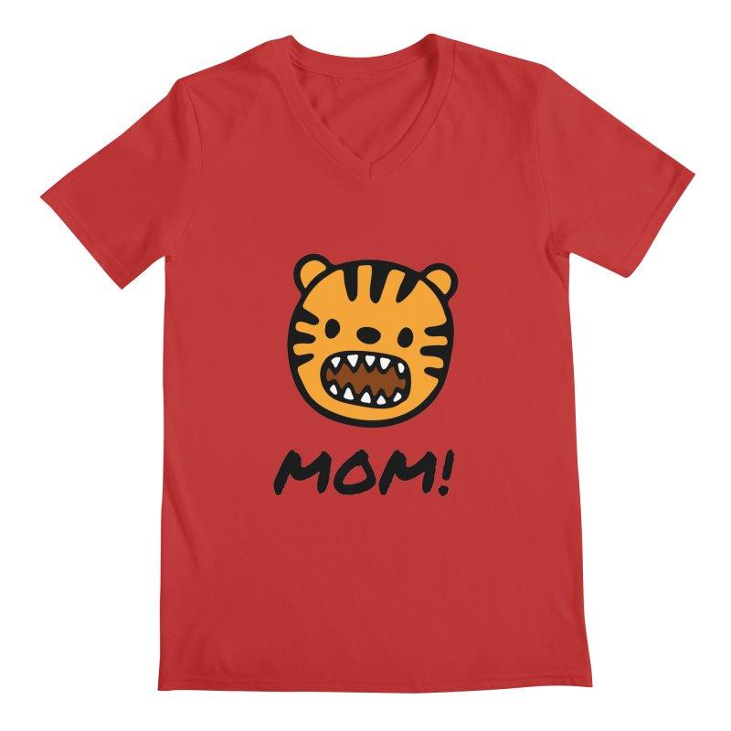 Tiger Mom Men's Regular V-Neck by Dark Helix's Artist Shop