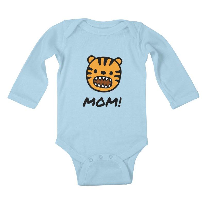 Tiger Mom Kids Baby Longsleeve Bodysuit by Dark Helix's Artist Shop